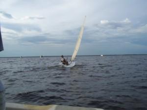Andy Laser sailing